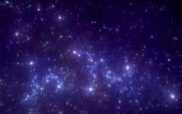 Межзвёздное облако космоса с звездами Для пользы с проектами на науке, исследовании, и образовании Стоковые Изображения