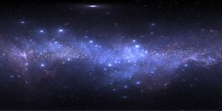 Межзвёздное облако космоса с звездами Карта окружающей среды 360 HDRI виртуальной реальности Проекция вселенной equirectangular,  иллюстрация штока