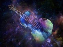 Межзвёздное облако скрипки стоковые изображения