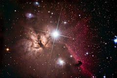 Межзвёздное облако Horsehead в Орионе Стоковое Изображение RF