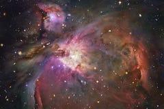 Межзвёздные облака и звезды в глубоком космосе Космическое искусство, обои научной фантастики стоковые фото