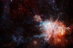 Межзвёздные облака и много звезд в космическом пространстве Элементы этого изображения поставленные NASA стоковое изображение