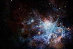 Межзвёздные облака и много звезд в космическом пространстве r иллюстрация вектора
