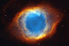 Межзвёздное облако винтовой линии или NGC 7293 в водолее созвездия стоковые изображения