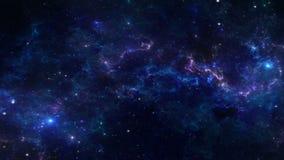 Межзвёздное облако глубокого космоса иллюстрация штока