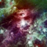 Межзвёздное облако космоса с яркими звездами Стоковое фото RF