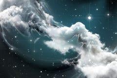 Межзвёздное облако космоса фантазии Стоковая Фотография