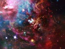Межзвёздное облако космоса Стоковое Фото