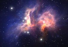 Межзвёздное облако космоса Стоковое Изображение