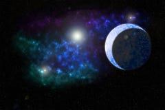 Межзвёздное облако планеты льда Стоковое Фото