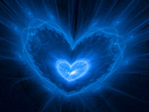 Межзвёздное облако сердца в космосе Стоковое Изображение