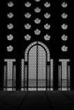 Межкомнатная дверь и окно мечети Хасана II в Cassablanca Стоковое Изображение