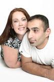 межрасовое пар счастливое Стоковое Изображение