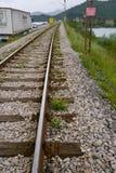 Междугородные шоссе и железная дорога на Черногории Стоковое фото RF