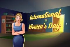 Международная квартира девушки дня ` s женщин Бесплатная Иллюстрация