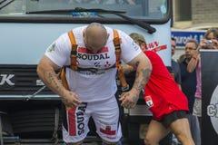 Международная конкуренция сильного человека в Гибралтаре Стоковая Фотография RF