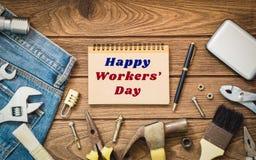 Международная концепция предпосылки дня ` работников стоковая фотография rf
