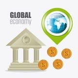 Международная экономика, деньги и дело Стоковая Фотография RF