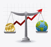 Международная экономика, деньги и дело Стоковые Изображения