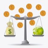 Международная экономика, деньги и дело Стоковое фото RF