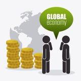 Международная экономика, деньги и дело Стоковые Фотографии RF