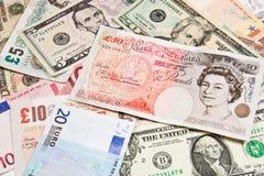 Международные валюты Стоковая Фотография