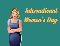 Международные девушки торжества дня ` s женщин Иллюстрация вектора