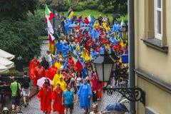 Международные паломники в Кракове Стоковое фото RF