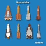 Международные сутки человеческого космического полета Комплект цвета космического корабля Стоковые Фотографии RF