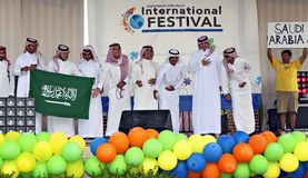 Международные фестиваль и модный парад Стоковая Фотография