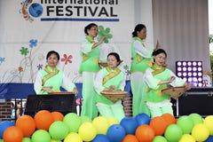 Международные фестиваль и модный парад Стоковое Изображение RF