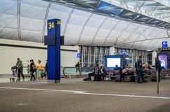 Международный аэропорт Гонконга - уровень отклонения стоковое изображение rf