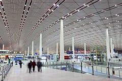 Международный аэропорт столицы Пекина залы отклонения Стоковые Изображения