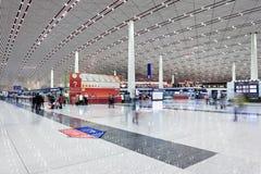 Международный аэропорт столицы Пекина залы отклонения Стоковая Фотография