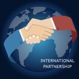 Международный бизнесмен значка партнерства Стоковое фото RF