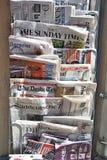 Международный газетный киоск стоковое изображение