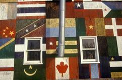 Международный глобальный дом, привлекательность обочины в Catskills, NY Стоковое Изображение RF