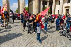 Международный День труда в Берлине Стоковые Фото