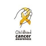 Международный день Карциномы детства Стоковое фото RF