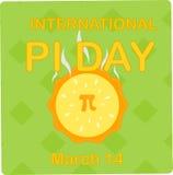 Международный день 14-ое марта pi Стоковое фото RF