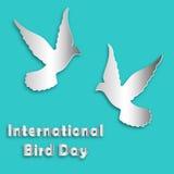 Международный день птицы также вектор иллюстрации притяжки corel Голубь Стоковые Изображения RF