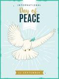Международный день плаката мира также вектор иллюстрации притяжки corel Стоковое Фото