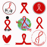 Международный день СПИДА значков Стоковая Фотография RF