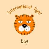 Международный день тигра Стоковое Изображение
