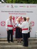 Международный день украинской вышивки в Chishinau, Молдавия Стоковая Фотография