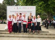 Международный день украинской вышивки в Chishinau, Молдавия Стоковое Изображение
