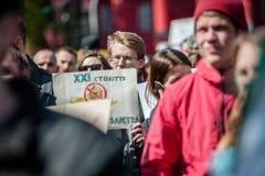 Международный день цирка Активисты опротестованные против эксплуатирования животные Стоковое Изображение RF
