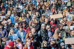Международный день цирка Активисты опротестованные против эксплуатирования животные Стоковое фото RF