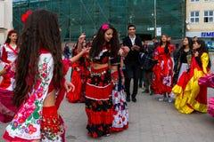 Международный день Roma был отпразднован в Uzhhorod стоковое фото rf