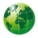 Международный зеленый глобус Стоковое Изображение